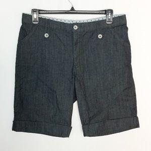 Lee 16 Jeans Jean Navy Blue Shorts Comfort Waist